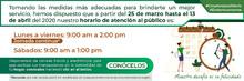 Banner horarios