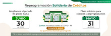 Banner Reprogramación solidaria de créditos actualizado