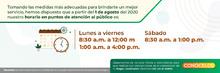 Banner horarios agosto