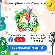 Invitación Clausura Festival de Expresión Talentos Cooptenjo 2020