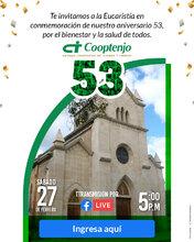 Eucaristía aniversario 53 Cooptenjo